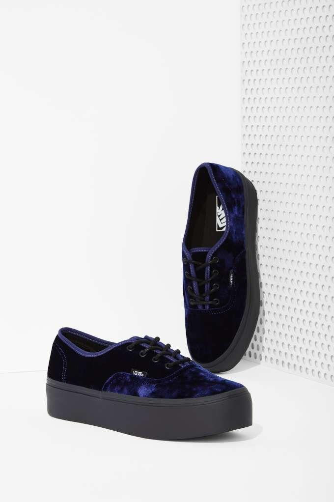 Vans Authentic Platform Sneaker - Blue Velvet   Shop Shoes at Nasty Gal!