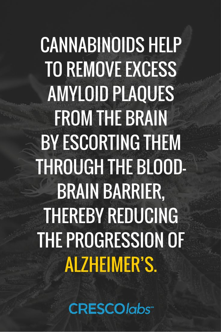 Cannabinoids help to remove excess amyloid plaques from the brain by escorting them through the blood-brain barrier, thereby reducing the progression of Alzheimer's Disease. (medical cannabis, marijuana) More info: http://www.crescolabs.com/conditions/alzheimers/?utm_content=buffer84035&utm_medium=social&utm_source=pinterest.com&utm_campaign=buffer