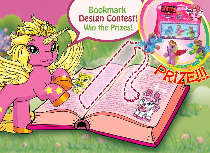 Filly Contest - Design a Filly Star Bookmark. Send in your beautiful design for a chance to win a prize.