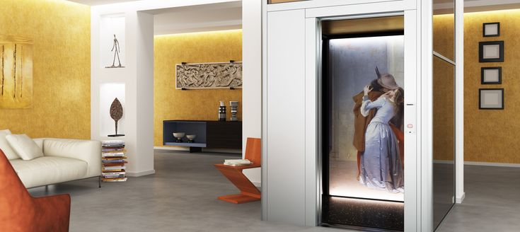 DomusLift Art - Limited Edition. Inspiring living room with the Italian art masterpieces.