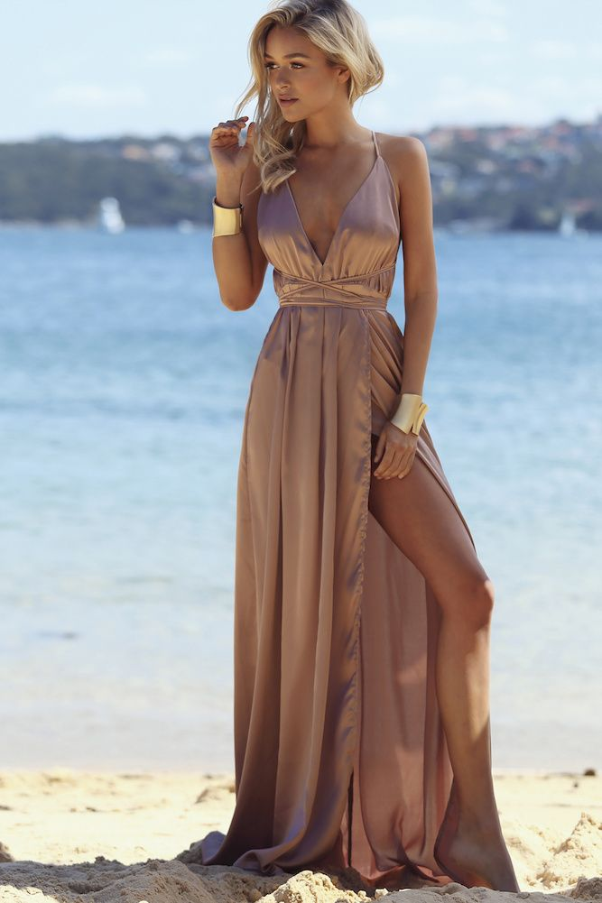 Catwalk Maxi Dress Mocha