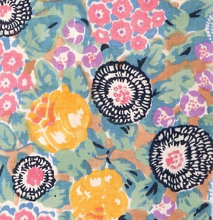 Bloomsbury Square Hand block-printed silk, 1930s Summer 2014
