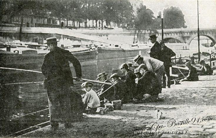 Paris- les Pêcheurs Parisiens - Carte postale ancienne