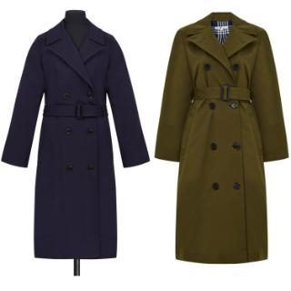 First look at Alexa Chung for Marks & Spencer - and the archive pieces which inspired the range: Left: the Frances coat was originally produced in 1950, and made from sturdy gabardine which would have been passed down the generations. Right: Alexa's khaki take on the trench, £89