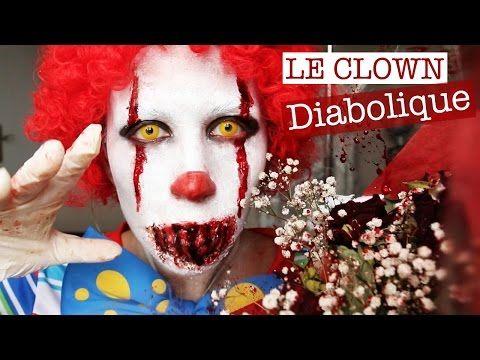 Maquillage Halloween : Clown Diabolique - YouTube