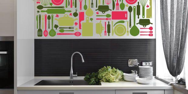 Adesivo decorativo per superfici murali
