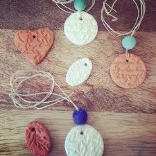 Homemade Essential Oil Necklaces by Brittany