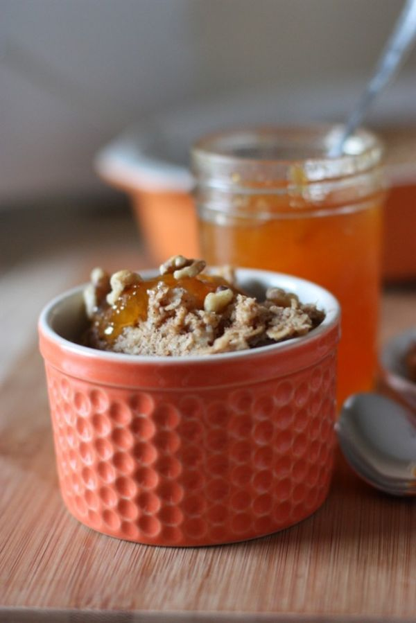 Peach Baked Oatmeal | Fake Food Free #breakfast