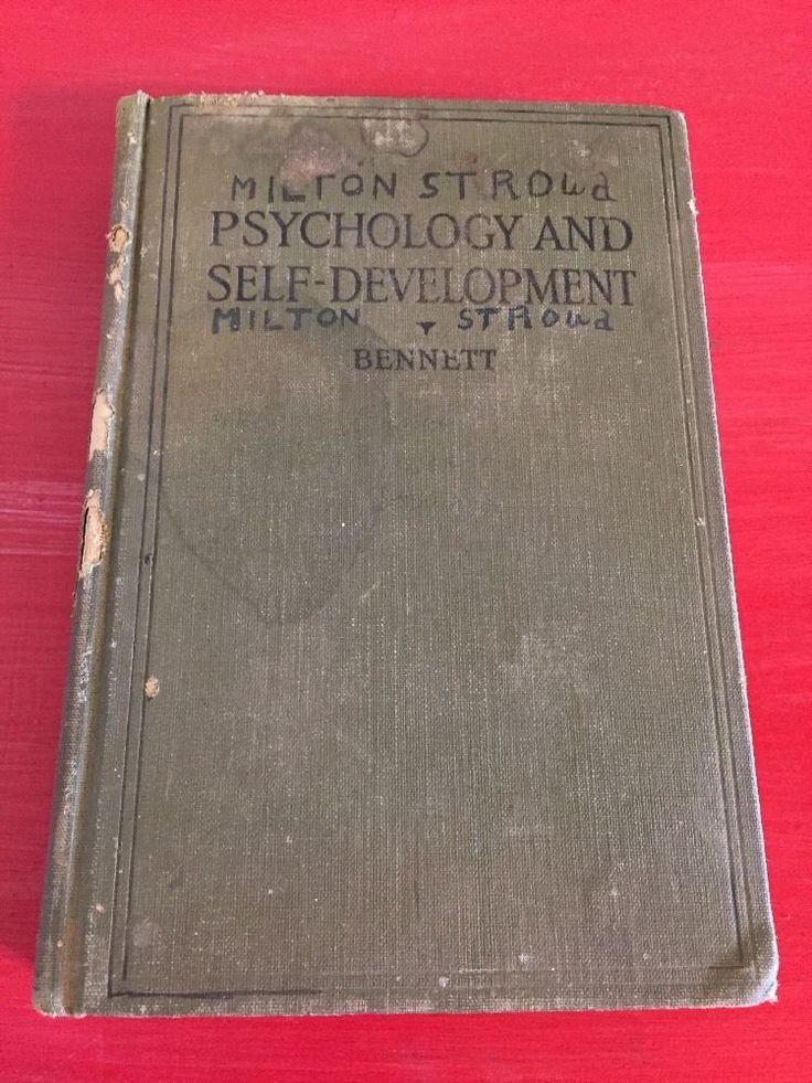 Vintage Psychology Textbook 1923 Psychology and Self Development Henry Bennett  | eBay