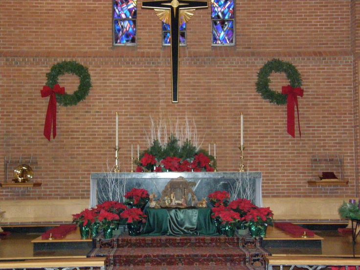 Simple Church Christmas Decoration Ideas : Best churches at christmas images on