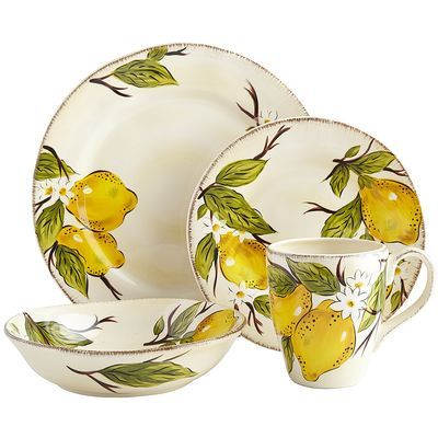 Avalon Dinnerware reminds me of Sorrento