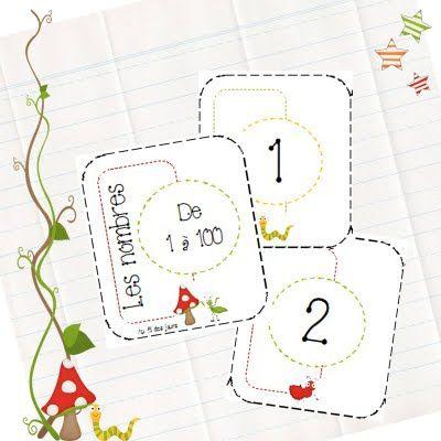 Joli jeu de cartes de 1 a 100 pour tirer les cartes au sort et les mettre dans l'ordre croissant ... De jolies fleurs de taille differentes aident a faire le travail  Au fil des jours: Les nombres de 1 à 100