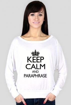 Keep Calm and Paraphrase - długi rękaw, 56,00 zł, #psychologia, #psychology, #psychopraca, #cupsell, #gifts, #prezenty, #keepcalm