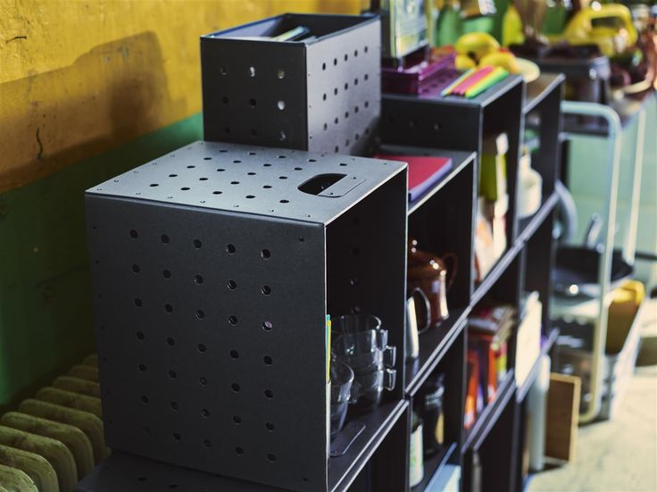 """STACK IT. Set of 5 stylish boxes for storage or display. IKEA PS 2017—LIVE IT. """"I've moved at least twelve times in as many years. That gave me the idea for the 5 box IKEA PS 2017 set – sturdy moving boxes that can also function as a stylish storage solution in your home. You can even sort your things, as the two small boxes fit in the three larger ones."""" — Designer Gustav Carlberg #Liveit #IKEAPS2017 #IKEAcollections"""