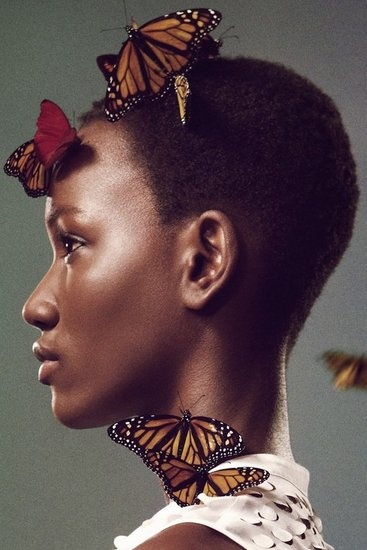 Edun Spring 2012: Charlotte Free, Shorts Hair, Butterflies, Ads Campaigns, Spring Summer, Beautiful, Ryan Mcginley, Fashion Ads, Africans Fashion