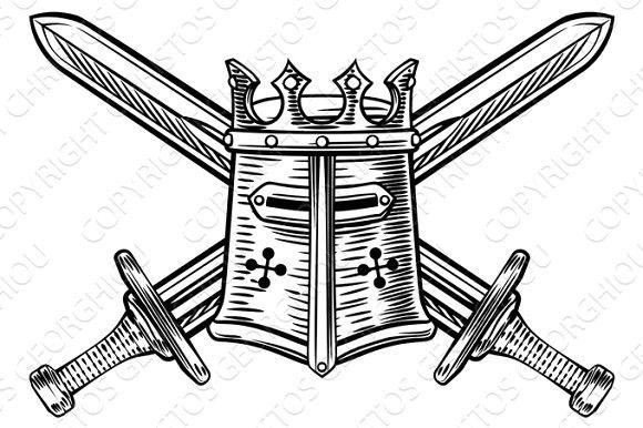 47+ Crossed swords clipart black and white ideas in 2021