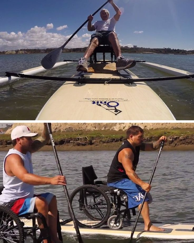 Onit Ability Boards has created a paddle board that accommodates wheelchairs for individuals who are paraplegic, amputees or with related disabilities.