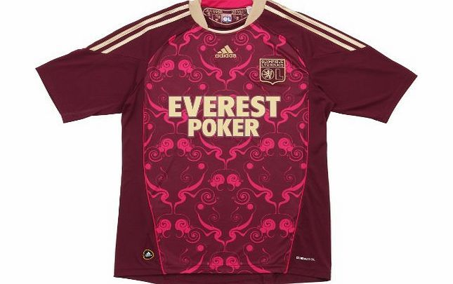 Lyon Adidas olympique lyonnais shirt jersey 2010/2011 - XL Official Adidas Olympique Lyon away shirt for the 10/11 season. This stunningly designed shirt clebrates the clubs 60th anniversary. Crimson with gold trim. (Barcode EAN = 4050559986399). http://www.comparestoreprices.co.uk/football-shirts/lyon-adidas-olympique-lyonnais-shirt-jersey-2010-2011--xl.asp