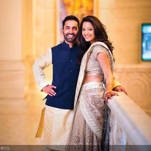 Cricketer Dinesh Karthik and squash champion Dipika Pallikal got engaged in a hush-hush ceremony at a star hotel last week. It was strictly a family affair.