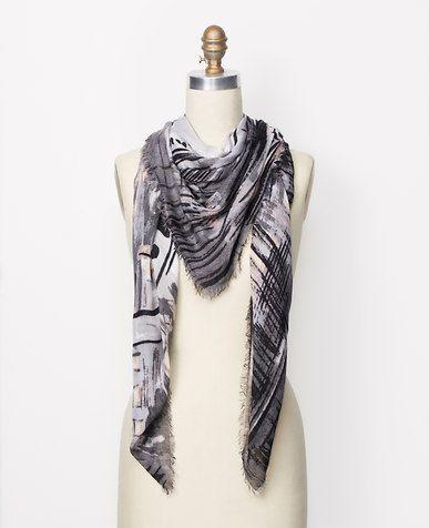 Cashmere Silk Scarf - city hearts by VIDA VIDA qIYCWDxS0