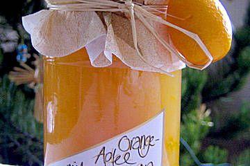 Anklicken zum Vergrößern von Apfel - Orangen Konfitüre mit Marzipan