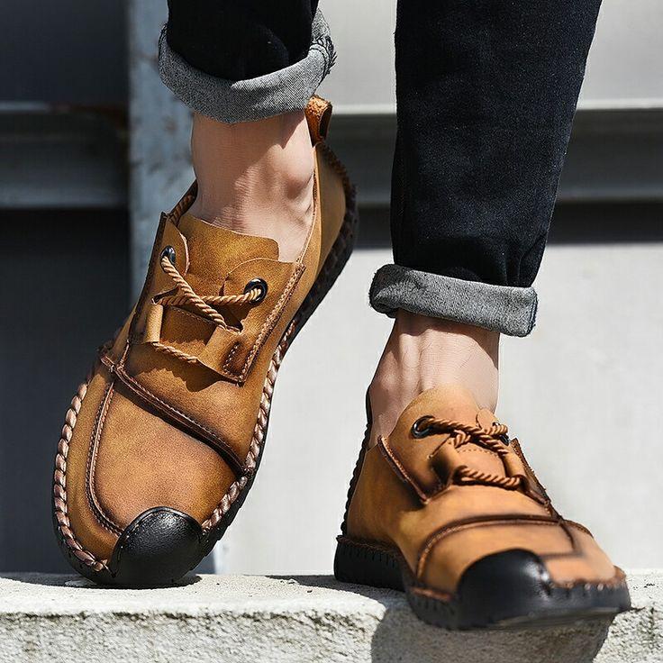 >> Compre aqui<< Prelesty Urbano de Luxo Outono Estilo Handmade Homens Couro Genuíno Sapatos de Condução Mocassins Mens Sapatos Casuais Respirável