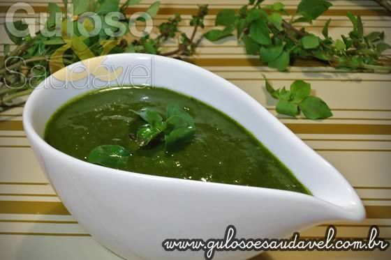 Pesto de Manjericão » Liquidificador, Molhos, Receitas Saudáveis » Guloso e Saudável