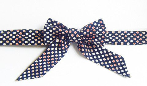 Black Mod Polka Dots - Handmade Sailor Tie