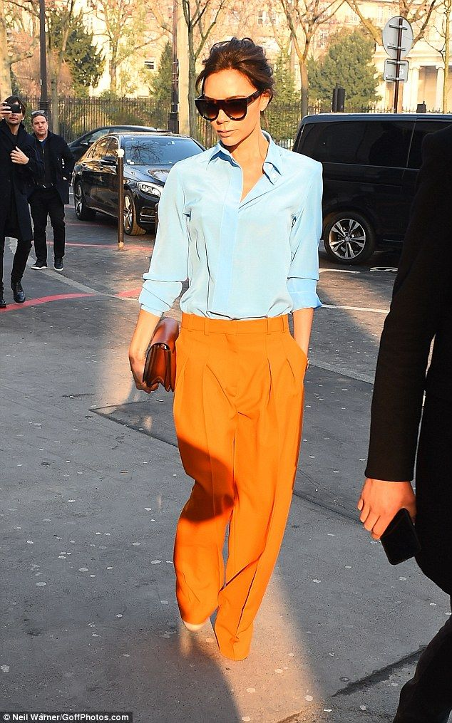 Oo la la! It came as no surprise to see Victoria Beckham looked sensational as she stepped out in the French capital ahead of Paris Haute Couture Fashion Week on Monday