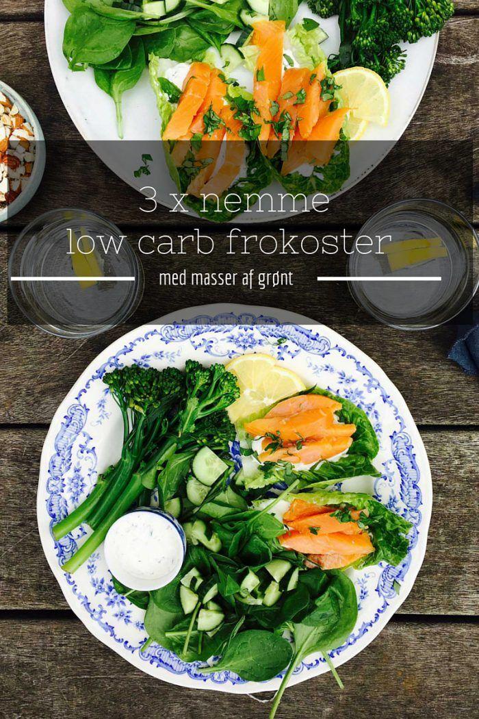 3 lækre og enkle low carb frokoster med masser af grønt. Ingen lange tilberedningstider. Bare sund mad - helt enkelt. Se mere her: Madbanditten.dk