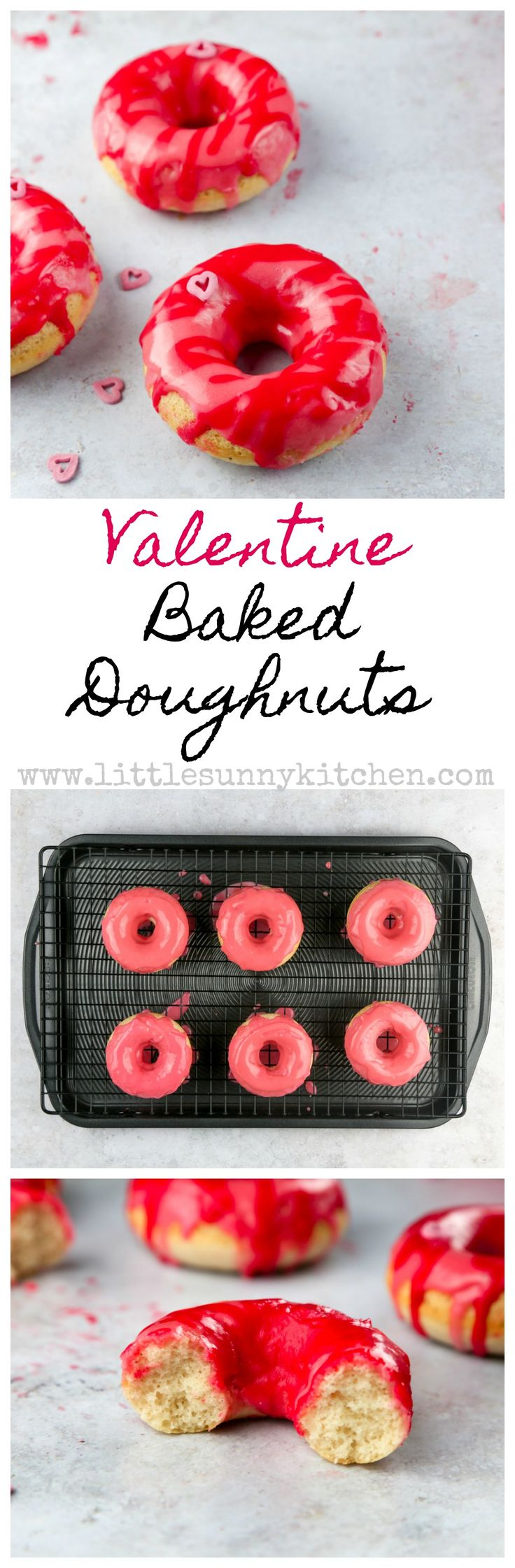 These adorable baked doughnuts are perfect for Valentine's Day!