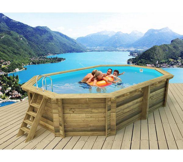Terrasse bois piscine octogonale diverses for Piscine bois 8x5