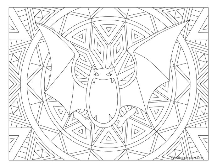 Golbat Pokemon 042 Pokemon Coloring Pages Pokemon Coloring