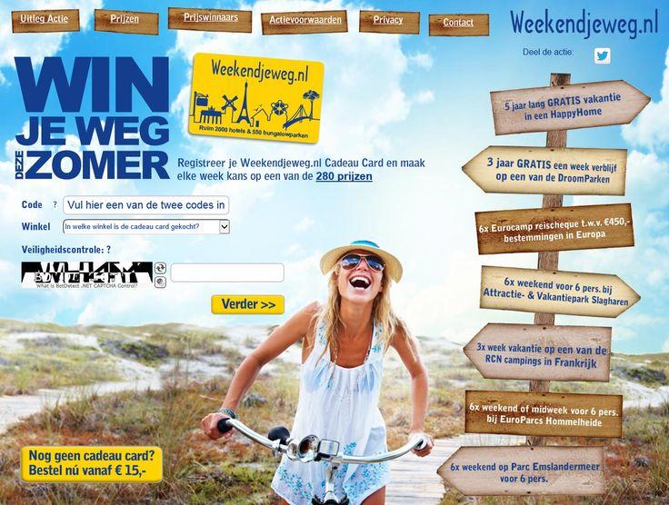 Actie website BookIT Winweekendjeweg.nl