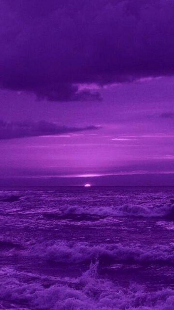 Mer et ciel violets | Fond d'écran violet, Violet