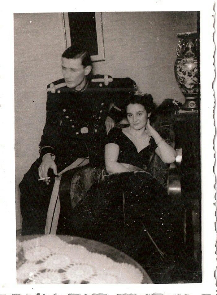 My grandma Annie and my uncle Otto at a party in their house - cca. 1930