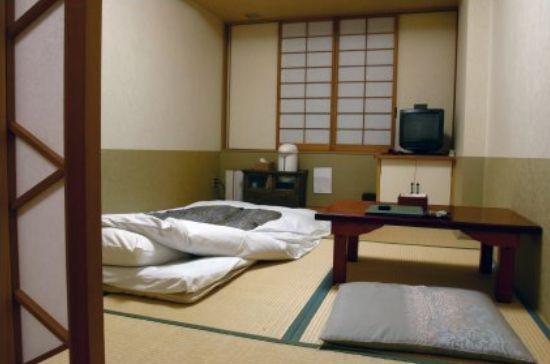 Japanese room with futon.