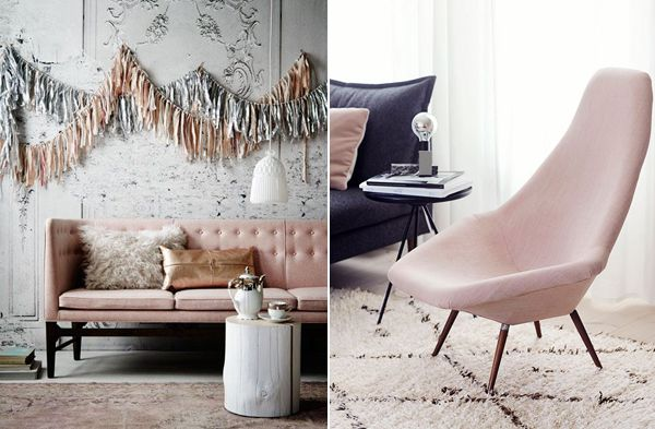Blush in interior trends has a particularly Scandi flavour.  #trendwatch #decorating #lifeinstyle