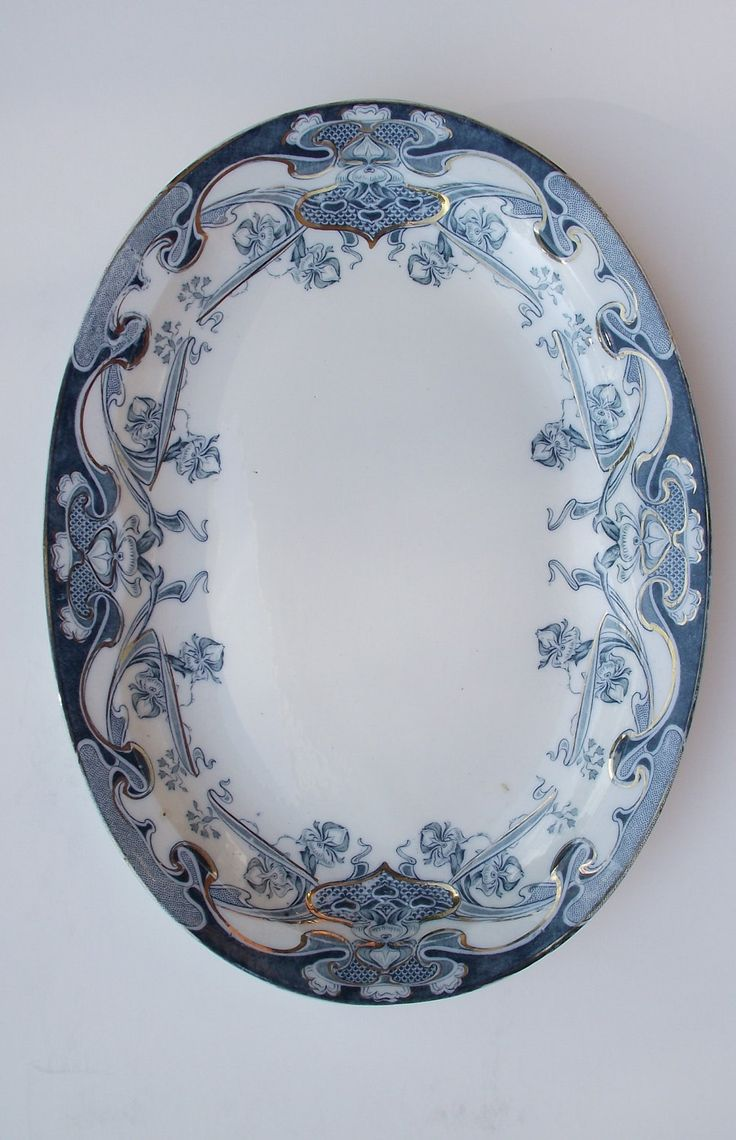 Vintage Blue English Transferware Platter - Royal Staffordshire Pottery