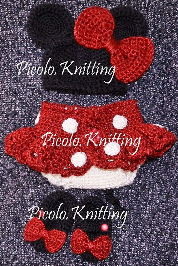 Minnie Mouse Tutu exclusivos Crochet recién por picoloknitting