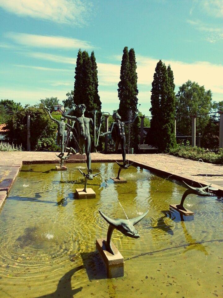 Outdoor Sculpture Garden by the artist Carl Milles. So beautiful.