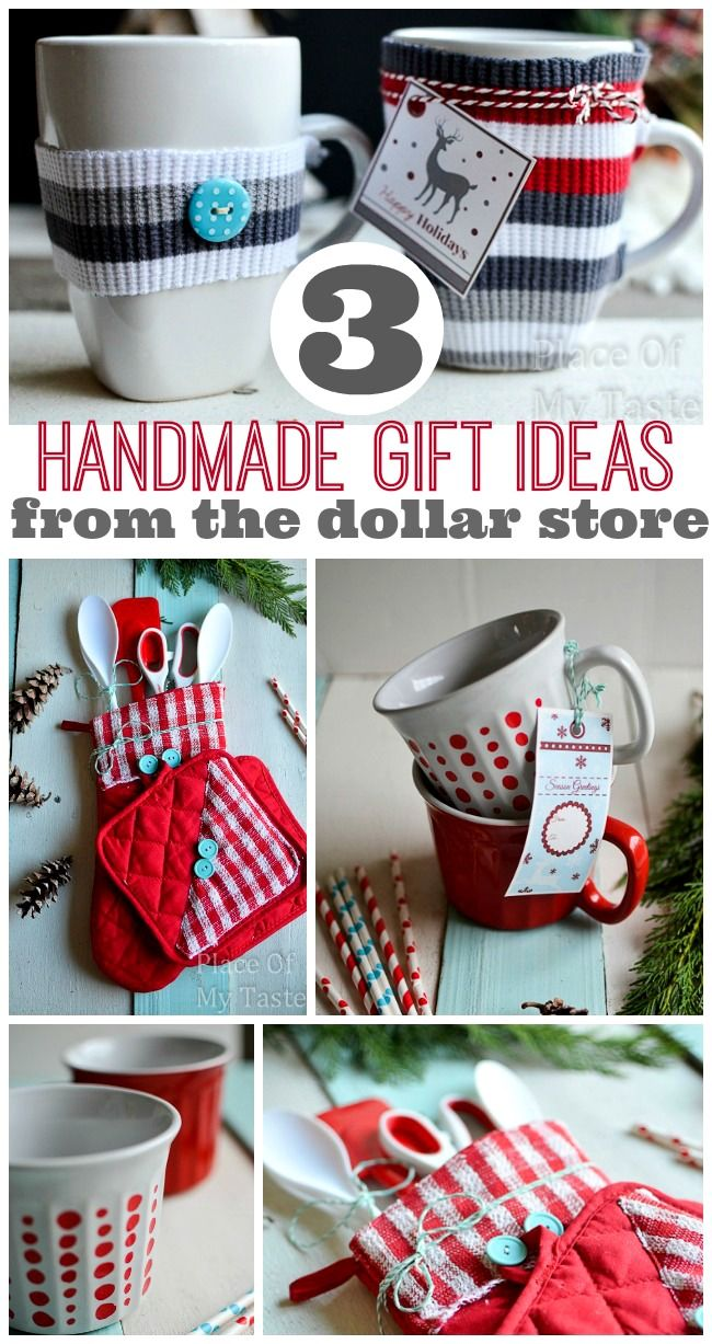 3 LAST MINUTE HANDMADE GIFTS FROM $1 STORE #christmas #handmadegifts #dollarstoregifts @placeofmytaste.com
