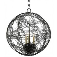 Wrought Iron Wire Nest Orb Chandelier - LOW STOCK,ORDER NOW
