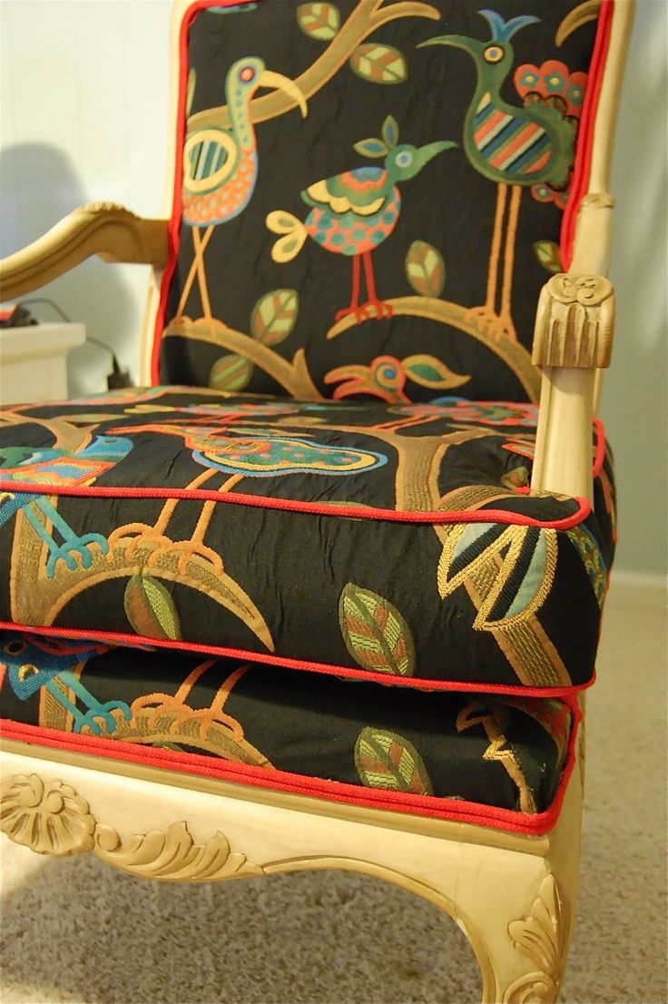 1710 best upholstery inspirations images on pinterest chairs crazy ol bird fabric so fun and whimsical find this fabric