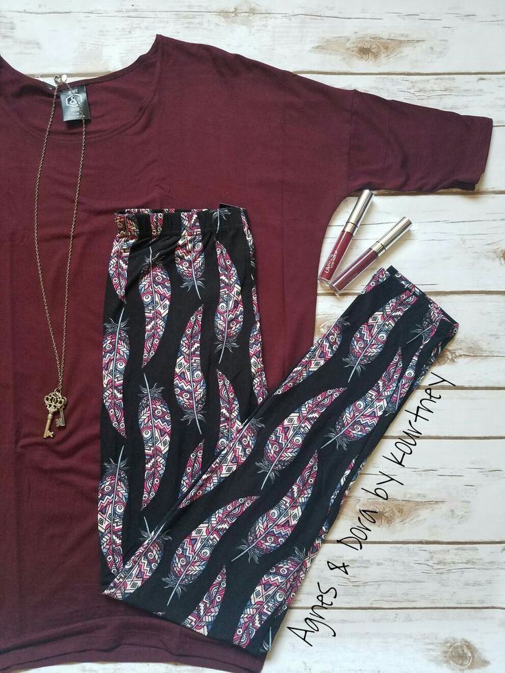 Agnes & Dora Feather leggings + our Dolman Tunic is just amazing together. Agnes & Dora by Kourtney