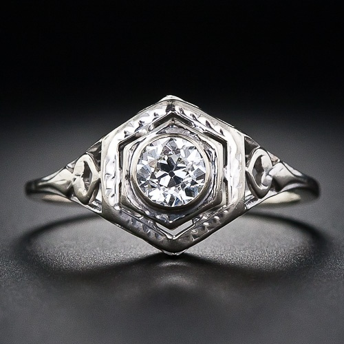 .40 Carat Art Deco Diamond Engagement Ring