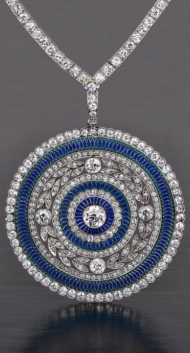 http://rubies.work/0530-sapphire-ring/ Edwardian Plique a Jour diamond necklace - 1905 http://www.slideshare.net/bestwomenwatches/top-womens-rolex-watches-elegant-luxury