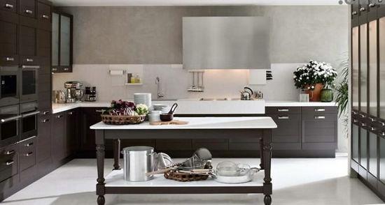 Simple European-style modern Italian kitchen cabinets