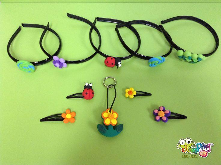 diademes, clips i clauers / diademas, clips y llaveros