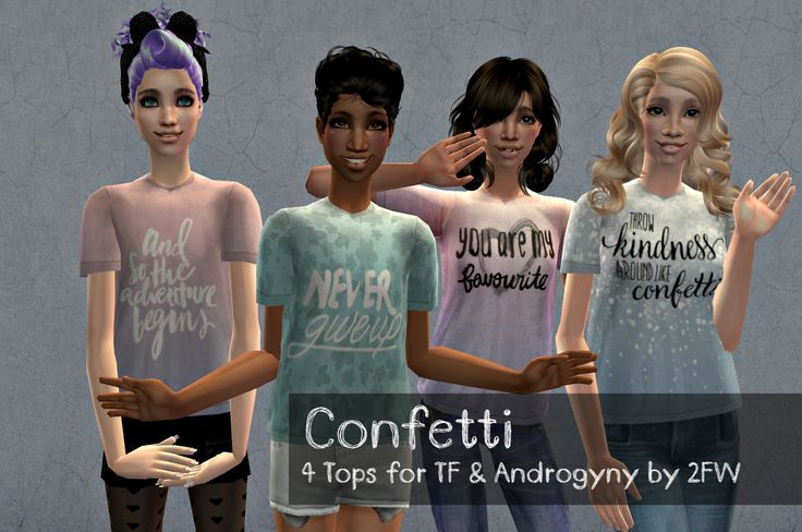Confetti - 4 Tops for TF & Androgyny - Two Fingers Whiskey
